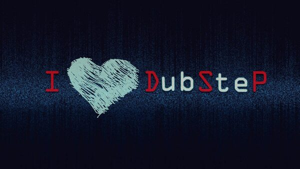 nápis I love DubSteP