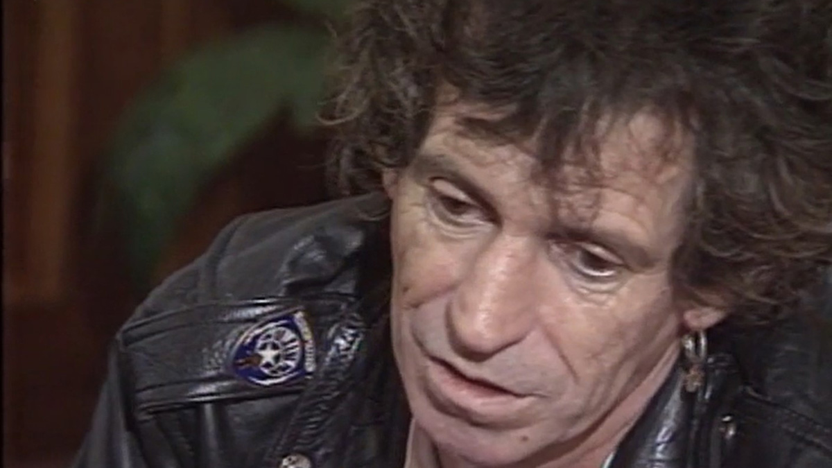Keith Richards při interview